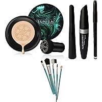 Sunisa 5 Pcs Makeup Brush Set Beauty Air Cushion Mushroom BB & CC Cream Foundation Waterproof Waterproof Eyeliner…