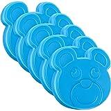 Navaris Pain de Glace Mini - Lot 5X Bloc réfrigérant 10 x 9 cm pour boîte à Repas Pique-Nique glaçière Sac Isotherme - 5X Pet