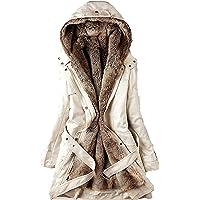 757 Cappotto Invernale da Donna Elegante Piumino Pelliccia Giacca Donna Invernale Lungo Trench Giubbotto Giubbino Donna…