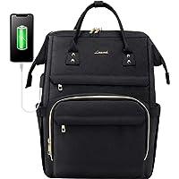 LOVEVOOK Rucksack Damen, wasserdichte Laptoprucksack 15,6 Zoll Schwarz mit Laptopfach, Groß Schulrucksack Tasche mit USB…