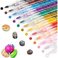 RATEL Peinture Acryliques Stylos, 12 Couleurs Marqueur Peinture Acrylique Premium Permanent Feutre Acrylique Stylo…