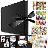 Album Photo à Coller Album Photos Scrapbooking,Albums Photos 80 Pages Noir,Album Photo Scrapbooking,Album de Bricolage Comme