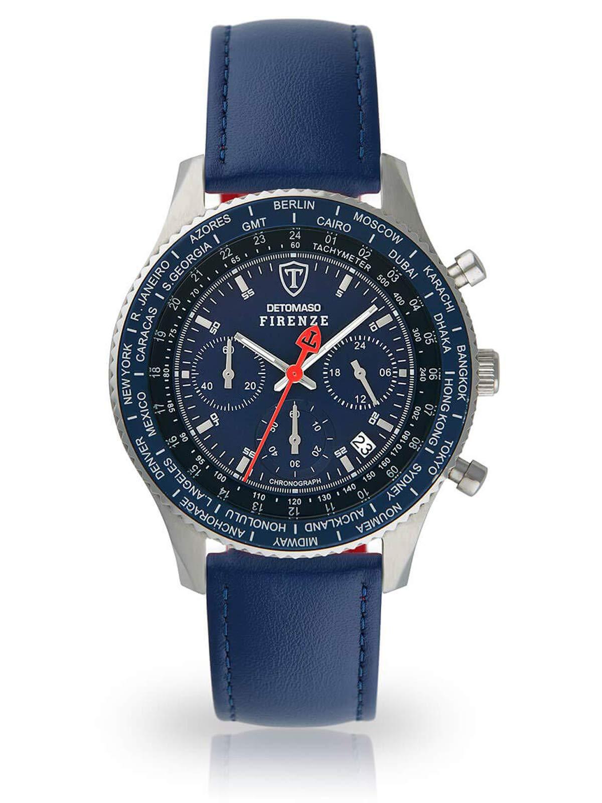 DETOMASO Firenze SL1624C-BL-659 – Reloj de pulsera para hombre, cronógrafo,