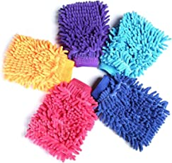 Cleaning Tool - Double Sided Microfiber Super Mitt Hand Glove Duster for Car/Office/Home (5 pc) | Microfiber Gloves | Microfiber Super Mitt | Home Improvement | gloves for bathroom cleaning | microfiber hand gloves | Microfiber hand gloves for cleaning | gloves for cleaning | reusable gloves | hand gloves for bathroom washing |