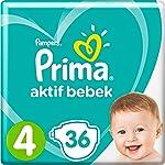 Prima Bebek Bezi Aktif Bebek Maxi İkiz Paketi 4 Beden 36 Adet