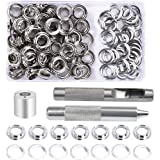 Grommet Kit, 100 Sets 10mm Grommet Eyelets, Metal Grommet Eyelets Kit, Tarpaulin Repair Kit met 3 Grommet Setting Tool voor T