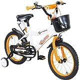 Actionbikes Kinderfiets, 12/16/20 inch, V-breakrem voor, steunwielen, luchtbanden, vanaf 2-9 jaar, jongens en meisjes, kinder