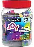 Classmate Joy Neon Erasers Jar - Pack of 55