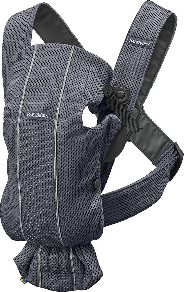 BABYBJÖRN Baby Carrier Mini, 3D Mesh, Anthracite Baby Bjorn Perfect first baby carrier for a newborn Small and easy to use 3D Mesh - Cool and airy mesh fabric, with an incredibly soft inner layer next to your newborn's skin 1