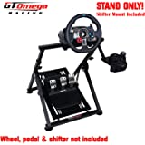 GT Omega APEX Steering Wheel Stand for Logitech Fanatec Clubsport Thrustmaster Gaming Wheel Pedal & Shifter Mount, TX…
