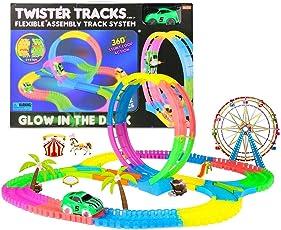 Wuze Twister Tracks 132PCS Magic Race Tracks Car Toys for Kids