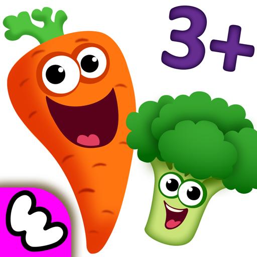 ele für Kleine Kinder ab Kinderspiele! Baby Lernen Farben und Formen, Früchte & Gemüse Gratis für Mädchen und Jungen! Denkspiele kostenlos für Kleinkinder ab 2 3 4 5 jahre! ()