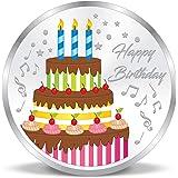 ACPL Precious Moments Colorful Happy Birthday 999 Pure Silver Coin