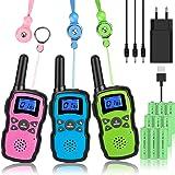 Wishouse M8 Walkie Talkie Niños Bateria USB Recargable, Adultos Walky Talky 3 Piezas Largo Alcance, Cámping Juegos Policia Ju