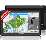 Jimwey Navigationsgerät für Auto LKW Navigation GPS Navi Navigationssystem Zoll 16GB Lebenslang Kostenloses Kartenupdate…