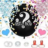 Herefun Reveal di Genere Baby Shower Balloon, Gender Reveal Balloon Boy Girl Palloncini Reveal di Genere Baby Shower Decorazi