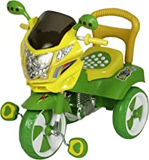 NHR Dash Baby Boys and Girls Tricycle with Under seat Storage Space, Lights and Music (Green)