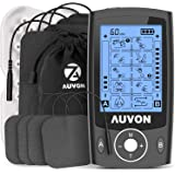 """AUVON Dual Channel TENS Machine for Pain Relief, TENS Unit Muscle Stimulator with 20 Modes, 2"""" and 2""""x4"""" TENS Pads Replacemen"""