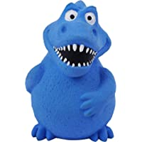 Goofy Tails Dinosaur Latex Squeaky Dog Puppy Toy for Small & Medium Breeds