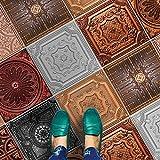 HomeArtDecor | Dekorative Fliesen | Kupfer Bronze und Silber Fliesen | Fliesenaufkleber | Einfach Schälen und Kleben | Geeignet für Küche und Bad | 24 Individuelle Fliesen Abziehbilder | Alle Dimensionen | Bodenfliesen und Wandfliesen | Wasserdicht | Wohnkultur