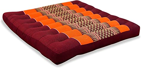 Asia Wohnstudio LivAsia® Kapok Sitzkissen, 50x50x6cm, Optimal Als  Stuhlauflage Oder Meditationskissen, Bodenkissen