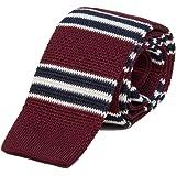40 Colori - Cravatta a maglia a righe Authentic Regimental in pura seta