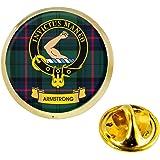 I LUV LTD Armstrong Clan Scozzese Cresta Risvolto Perno Tesserino in Colore Oro Prodotto della Scozia