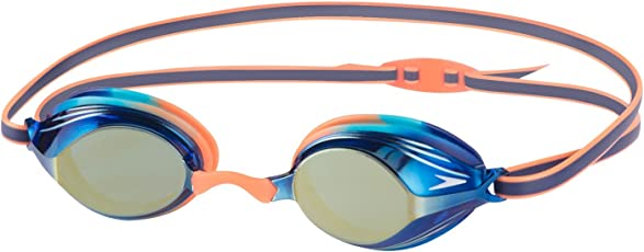 Speedo 811325B987 Blend Vengeance Mirror Goggles, Kids (Orange/Blue)