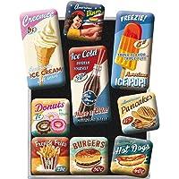Nostalgic-Art 83069 Set d'aimants rétro American Diner – Cadeau pour Les Fans des États-Unis, Décoration pour Le frigo…