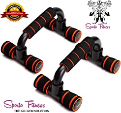 SPORTO FITNESS™ Push up Bars Push up Stands Handles Set for Men and Women Workout