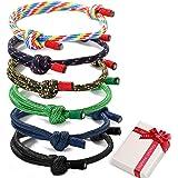 6 pezzi intrecciati bracciali nautici intrecciati bracciali per uomo signore corda cordone bracciale fatti a mano bracciali c