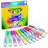 Crayola 58-8335 - I Lavabilissimi 12 Rotuladores, Punta Maxi, Colores Tropicales