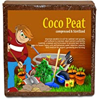 Cocopeat Block | Agropeat Block 5 Kgs - Expands Up to 75 litres of Coco Peat Powder for All Seeds and Plants