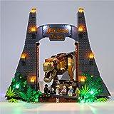 Ditzz Kit de Lumière à LED pour LEGO Jurassic World, LED Éclairage Kit Compatible avec LEGO 75936 (Modèle Lego non inclus)