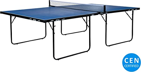 Stag Family Table Tennis Table Top Thickness 16 Mm with Net Set, 2 Racquets and 6 Balls (Blue)