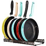 Support d'organisateur de casserole, support de batterie de cuisine réglable à 7 niveaux, organisateur d'étagère de placard,