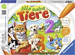 Ravensburger tiptoi Alle Meine Tiere - 00776 / Lerne spielerisch die Zahlen von 1 bis 10 mithilfe heimischer Tiere