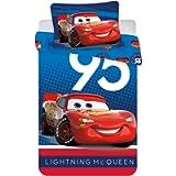 Disney Cars Lightning McQueen Cotton Duvet Pillow Cover Set 100x140, 40x45 cm