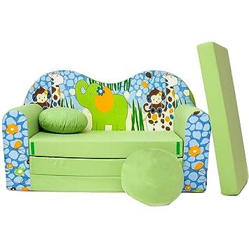 divano per bambini letto per bambini mobile 3in1 (verde africa z16 ... - Divano Letto Per I Bambini