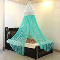 Creative Textiles Polyster Light Blue Mosquito Net (Size : 260Hx1100W cm)