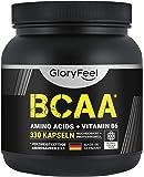 GloryFeel® BCAA 330 Kapseln - Der VERGLEICHSSIEGER 2020*- Essentielle Aminosäuren Leucin, Valin und Isoleucin Plus…
