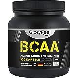 BCAA 330 Kapslar - Essentiella Aminosyror Leucin, Valin och Isoleucin + Vitamin B6 - laboratorietestade och tillverkade i Tys