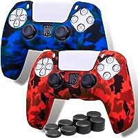 Playrealm Morbido Francobollo Silicone Pelle Skin Cover x 2 e Copri levette Analogiche x 8 per Controller PS5 Dualsenese…
