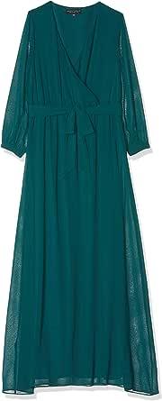 Dorothy Perkins Teal Chiffon Wrap Maxi Dress Vestito Donna