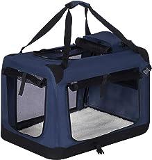 EUGAD Faltbare Hundebox Hundetransportbox Auto Transportbox Reisebox Katzenbox mit Hundedecke Farbwahl S-XXXL e316