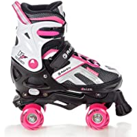 Roller Quad Pulse Black Taille Ajustable Raven - Noir/Rose, 33 au 36