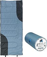 10T Schlafsack HANYA -6° warm weich 900g leicht Deckenschlafsack 180x75 Blau /Grau 200g/m²
