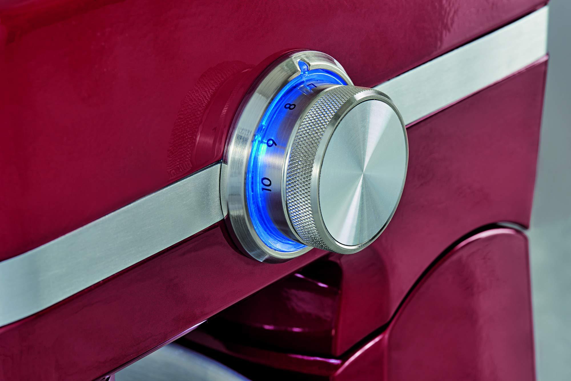 AEG-Kchenmaschine-UltraMix-KM-40001000-Watt-48-Liter-Edelstahl-Rhrschssel-10-GeschwindigkeitsstufenRobustes-Vollmetall-GehuseInkl-umfangreiches-Zubehr