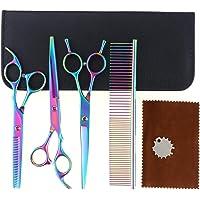 Aussel set di forbici e pettine per cane, set professionale, per acconciatura grooming