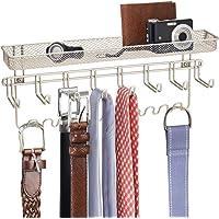 mDesign espositore gioielli - porta gioielli da 19 ganci e organizzatore per bracciali, collane, anelli e orecchini…